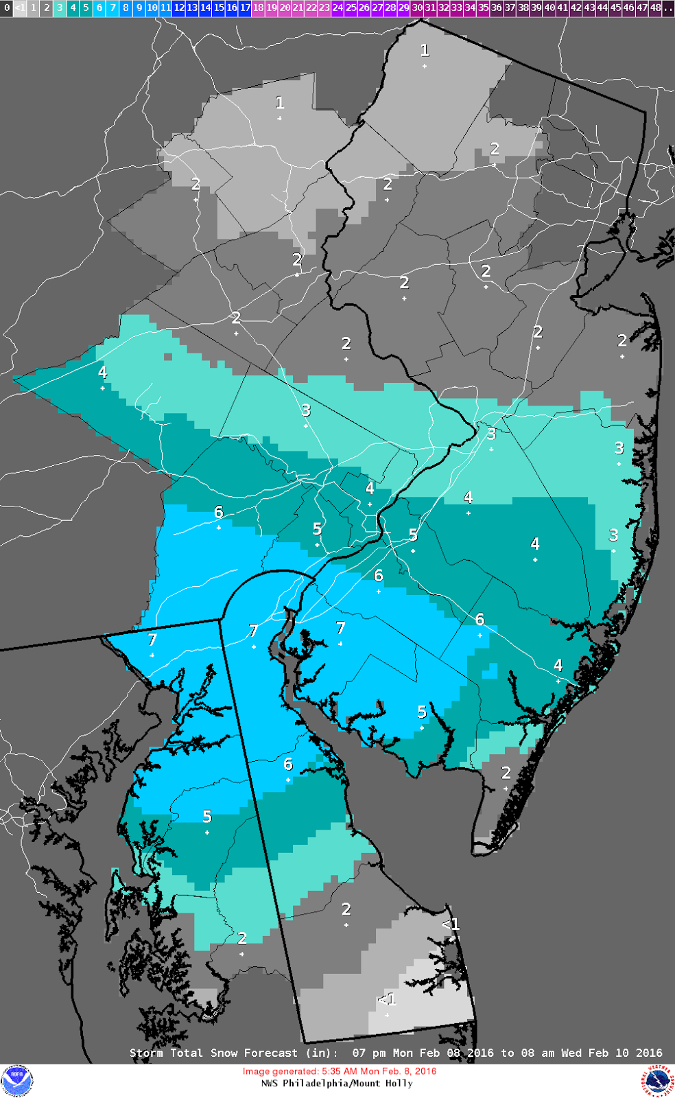 as of now nws phl mtholly has the following accumulations noted for tonight through wednesday