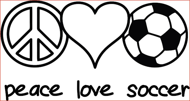 Soccer Peace Coloring Pages
