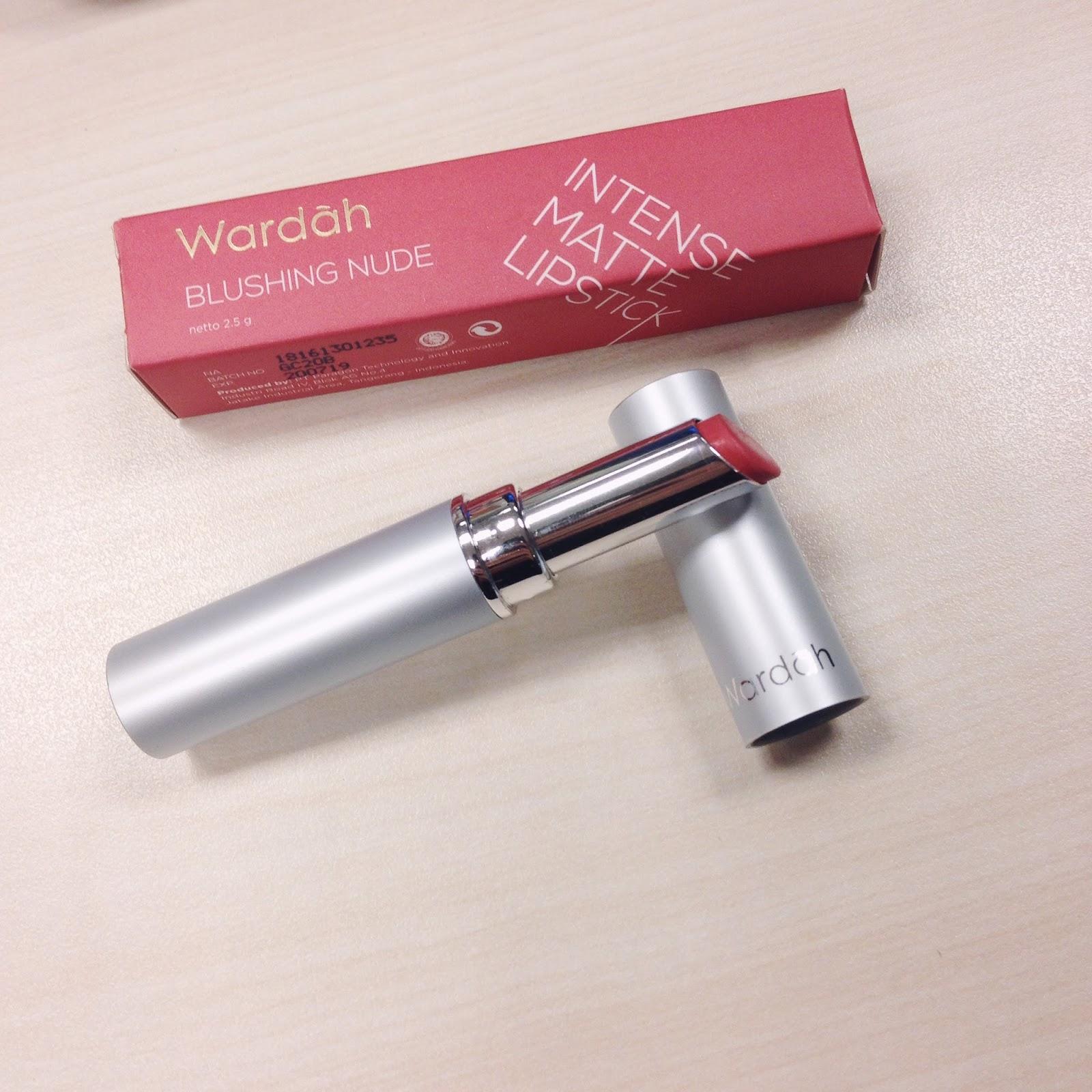 Wardah Intense Matte Lipstick 02 Blushing Nude 23g Referensi Passionate Pink 07 25gr Choco Town Review