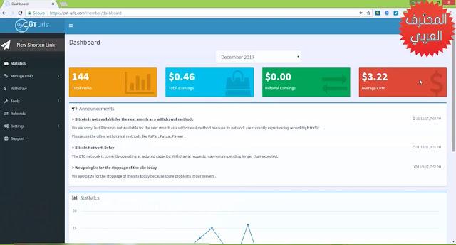 شرح موقع Cut-urls لإختصار الروابط وربح أول دولاراتك من الإنترنت الربح من اختصار الروابط 2018