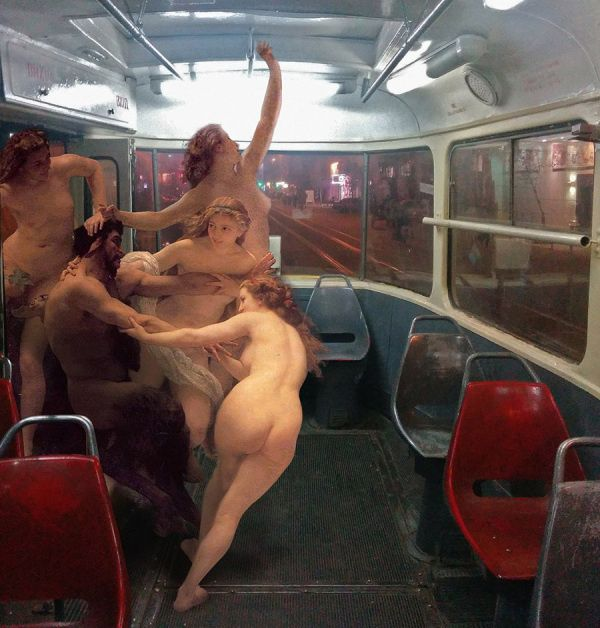 The Daily Life Of Gods by Alexey Kondakov is a collection of images where classical figures are placed in contemporary settings. A Satyr and Nymphs climb aboard a subway. Memento Mori and YOL. Other stories of Trump and Megalomaniacs. marchmatron.com
