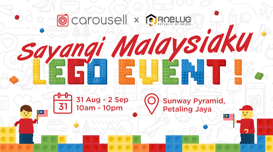 "Info : Carousell's ""Sayangi Malaysiaku"" Lego Art Exhibition in Conjunction With Merdeka"
