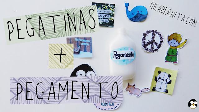 cómo hacer pegatinas y pegamento casero con gelatina_ Nica Bernita Manualidades