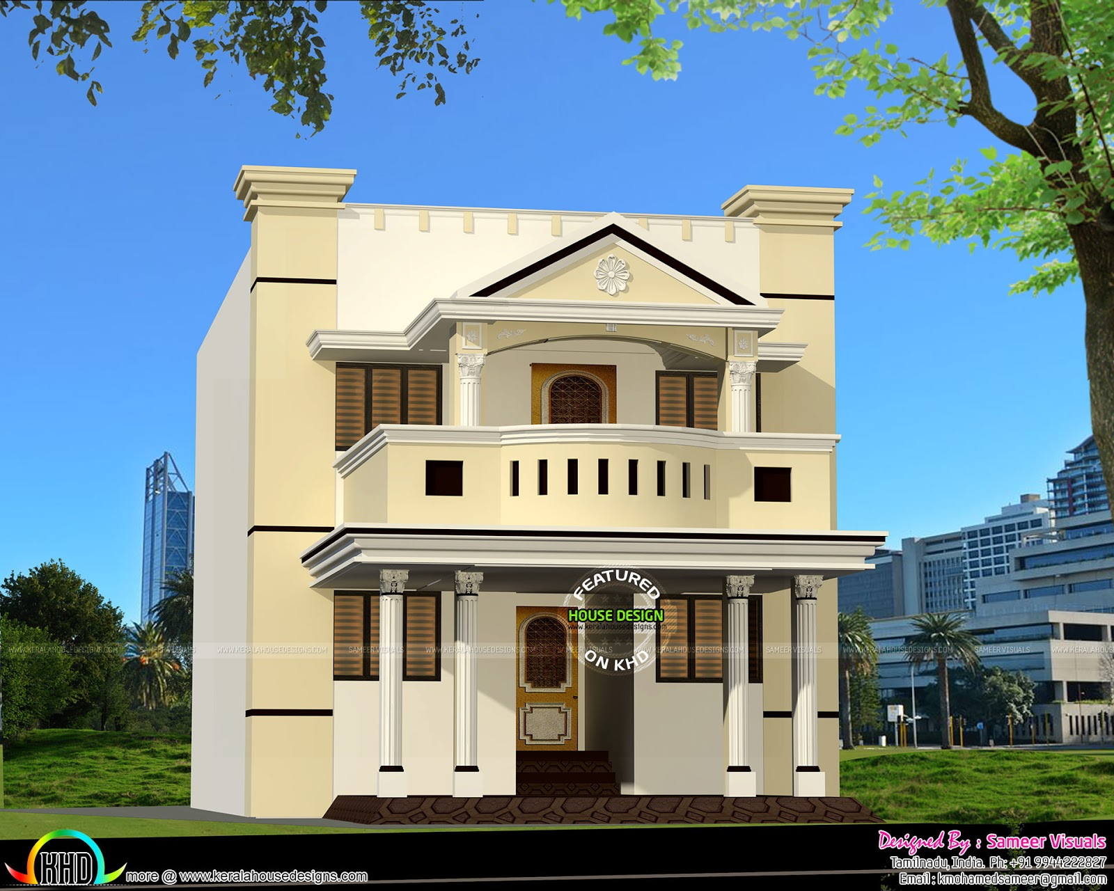 Tamilnadu style modern home in 2200 sq ft kerala home for Tamilnadu home design photos