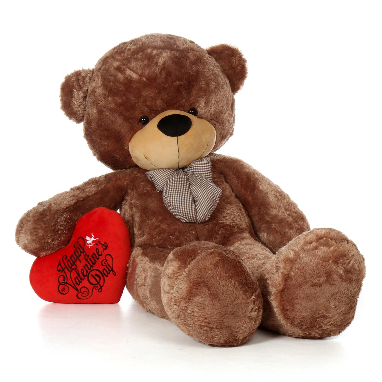 Cute Bear With Heart Pillow : Giant Teddy Bears Big Teddy Bears Giant Stuffed Animals GiantTeddy Blog