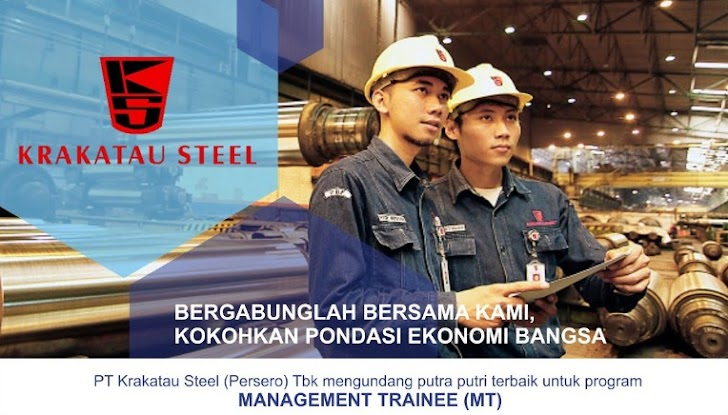 Lowongan Kerja PT Krakatau Steel 14 - 28 Oktober 2017, Daftar Online Disini
