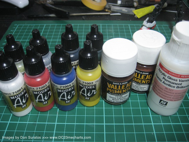 Vallejo paints and pigments photo