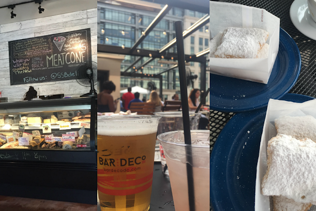 dc sandwiches; dc rooftop; happy hour; beignets;