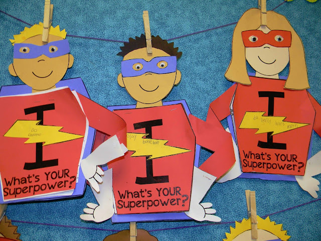Superhero writing craft for setting goals and reflecting on accomplishments