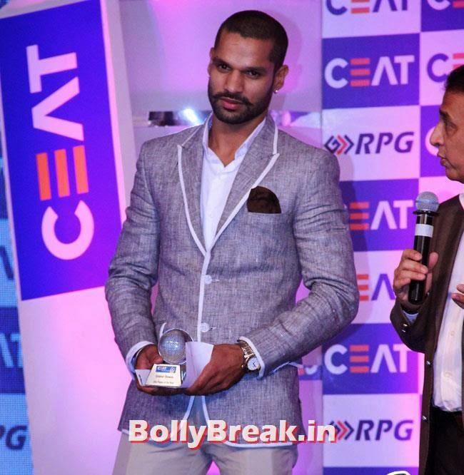 Shikhar Dhawan, Chitrangada Singh performed at CEAT Cricket Ratings Awards 2014