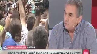 El integrante del triunvirato de la central obrera, Juan Carlos Schmid, aseguró que se hará la medida de fuerza.
