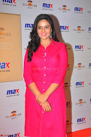 Sree Mukhi in Pink Kurti looks beautiful at Meet and Greet Session at Max Store (55).JPG