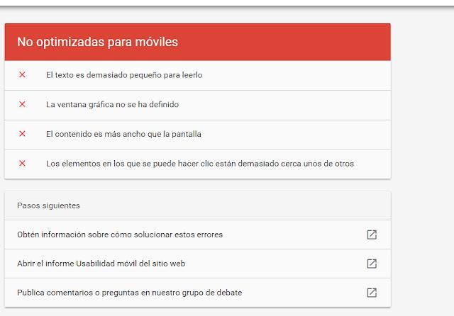 Optimización de webs para móviles