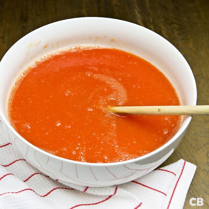 Gezonde basis voor een verse tomatensoep