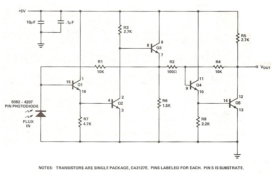 medium resolution of the ca3127 is a monolithic array of uncommitted transistors these have hfe min 35 and ft min 1 ghz i used this as a basis for several designs of my