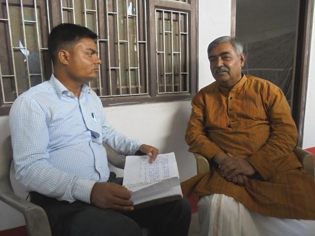 खास मुलाकात :  भाजपा प्रवक्ता सह विधायक विनोद नारायण झा के साथ