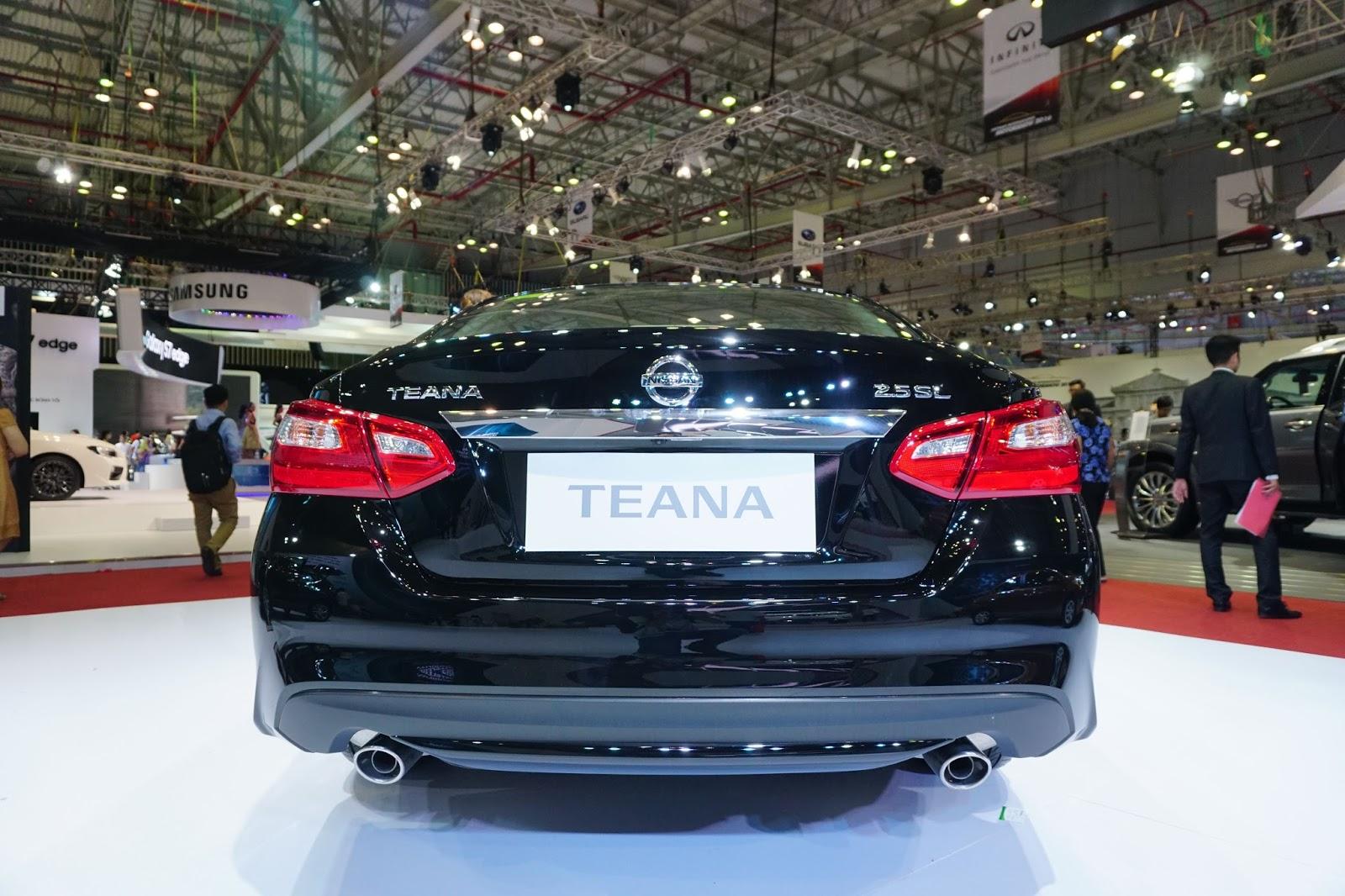 Đuôi xe của Nissan Teana 2017 vẫn chưa tạo được dấu ấn
