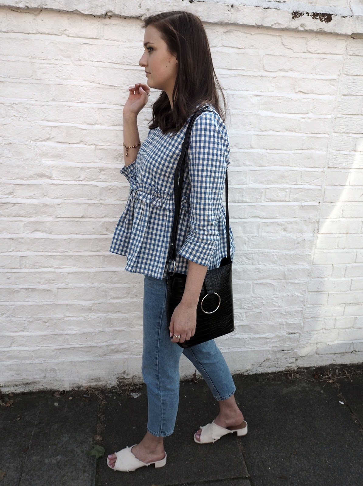 Why Do I Blog | Lauren Rose Style Blue Gingham Top Zara OOTD // Blogger Personal Thoughts Chat Post