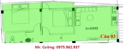 mặt bằng căn hộ số 3 chung cư mini Nhật Tảo 7