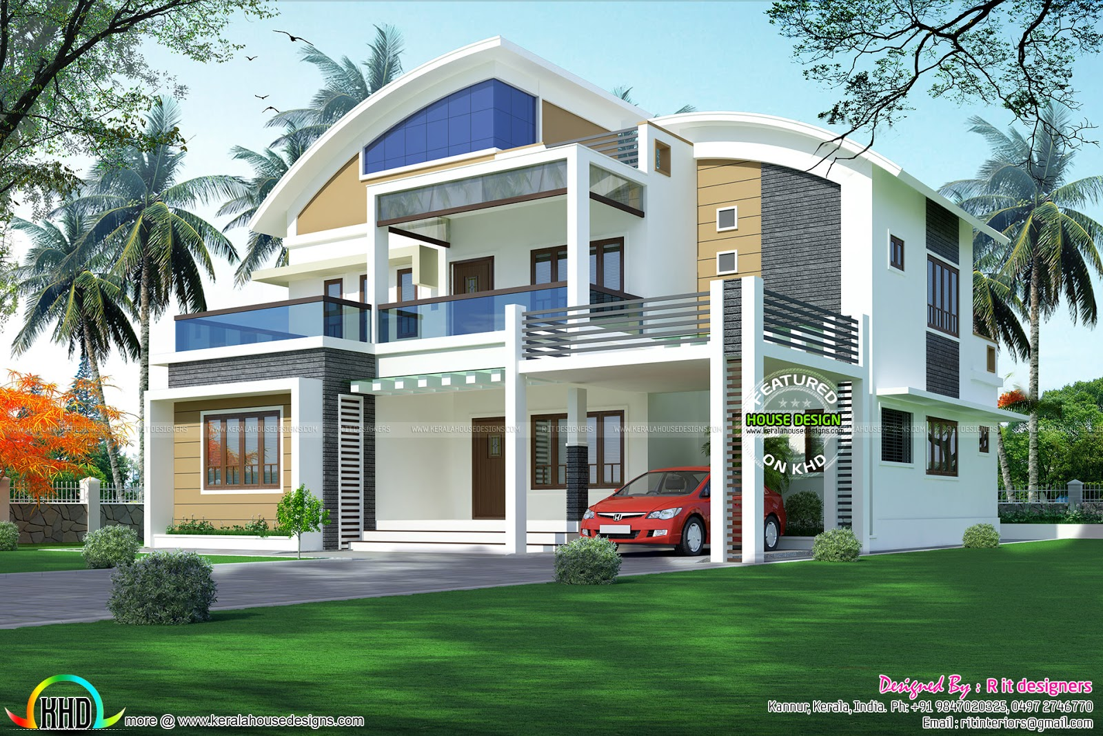 R It Designers (home Design In Kannur) Part - 28: 3130 Sq-ft Contemporary Home Plan