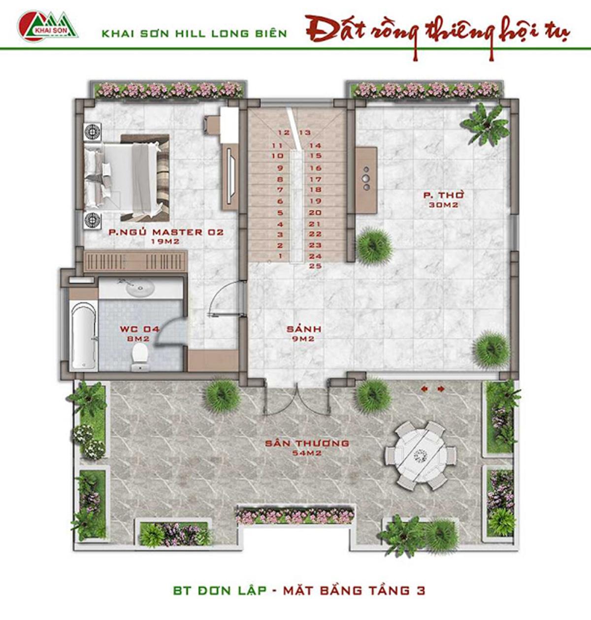 Biệt thự đơn lập Khai Sơn City Long Biển