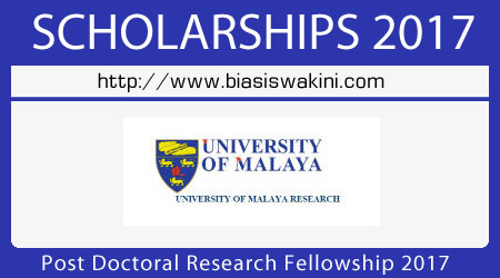 Post Doctoral Research Fellowship - PDRF 2017