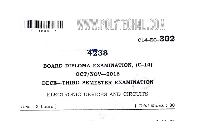 C-14 DECE 302-ELECTRONIC DEVICES AND CIRCUITS OLD QUESTION PAPERS