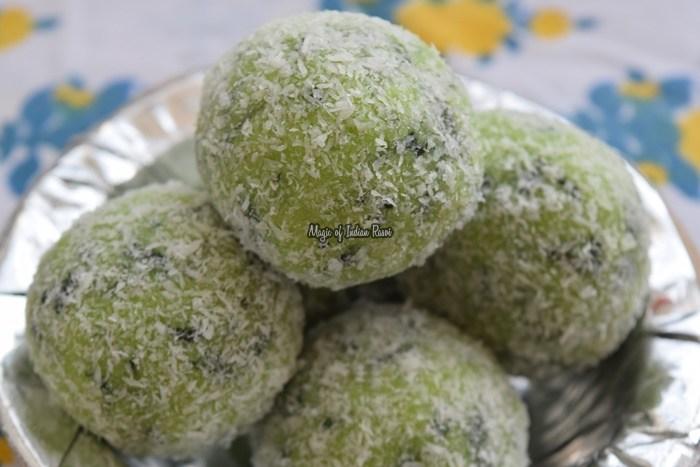 Paan-Balls-Bites-Coconut-Beteel-Leaves-Mithai-Easy-Diwali-Sweets-Recipe-Magic-of-Indian-Rasoi-Priya R