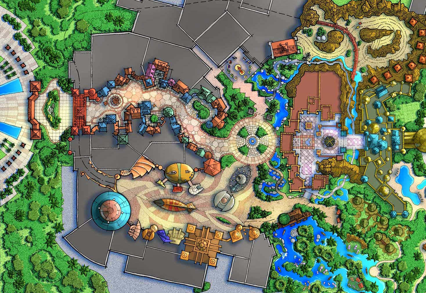 Insights And Sounds August - Disneyland brazil map