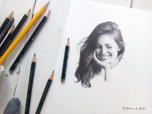 Proceso creativo de un dibujo a lápiz