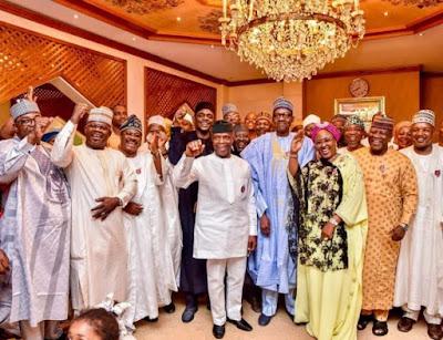 buhari2 - 9JA NEWS: #PMBAt75: Governors, Saraki, Dogara, Tinubu, Well-wishers surprise Buhari on his 75th Birthday