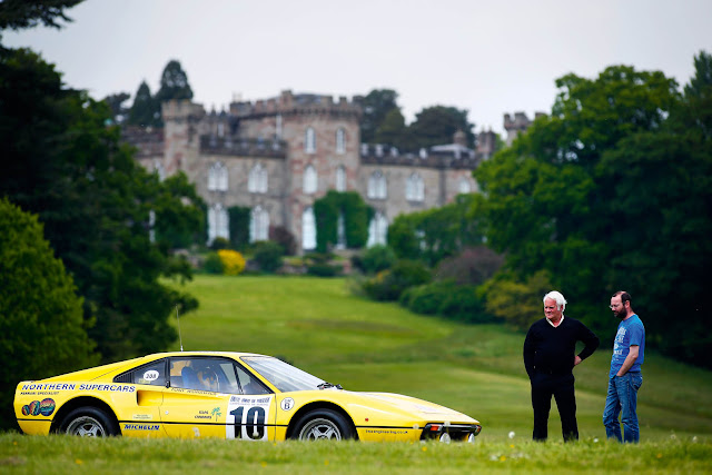 Ferrari 308 GTB rally car driven ahead of Cholmondeley Power and Speed - plus video