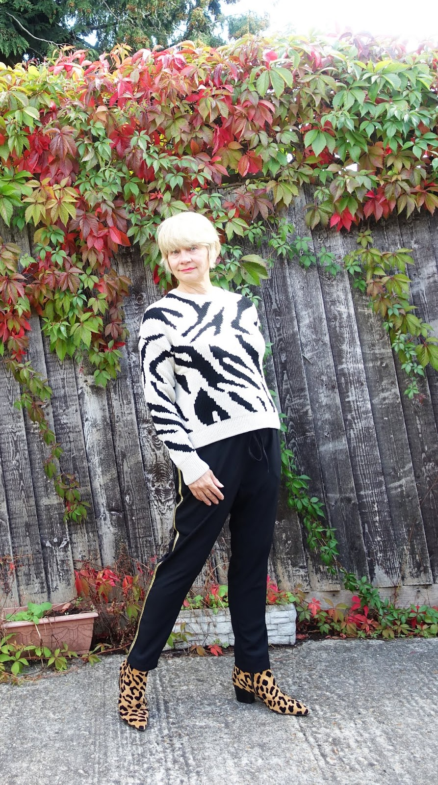 Style blog for the over-45s, Is This Mutton, shows how to mix your animal prints