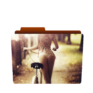Previewof Girl on Bike png image, sexy girl icon