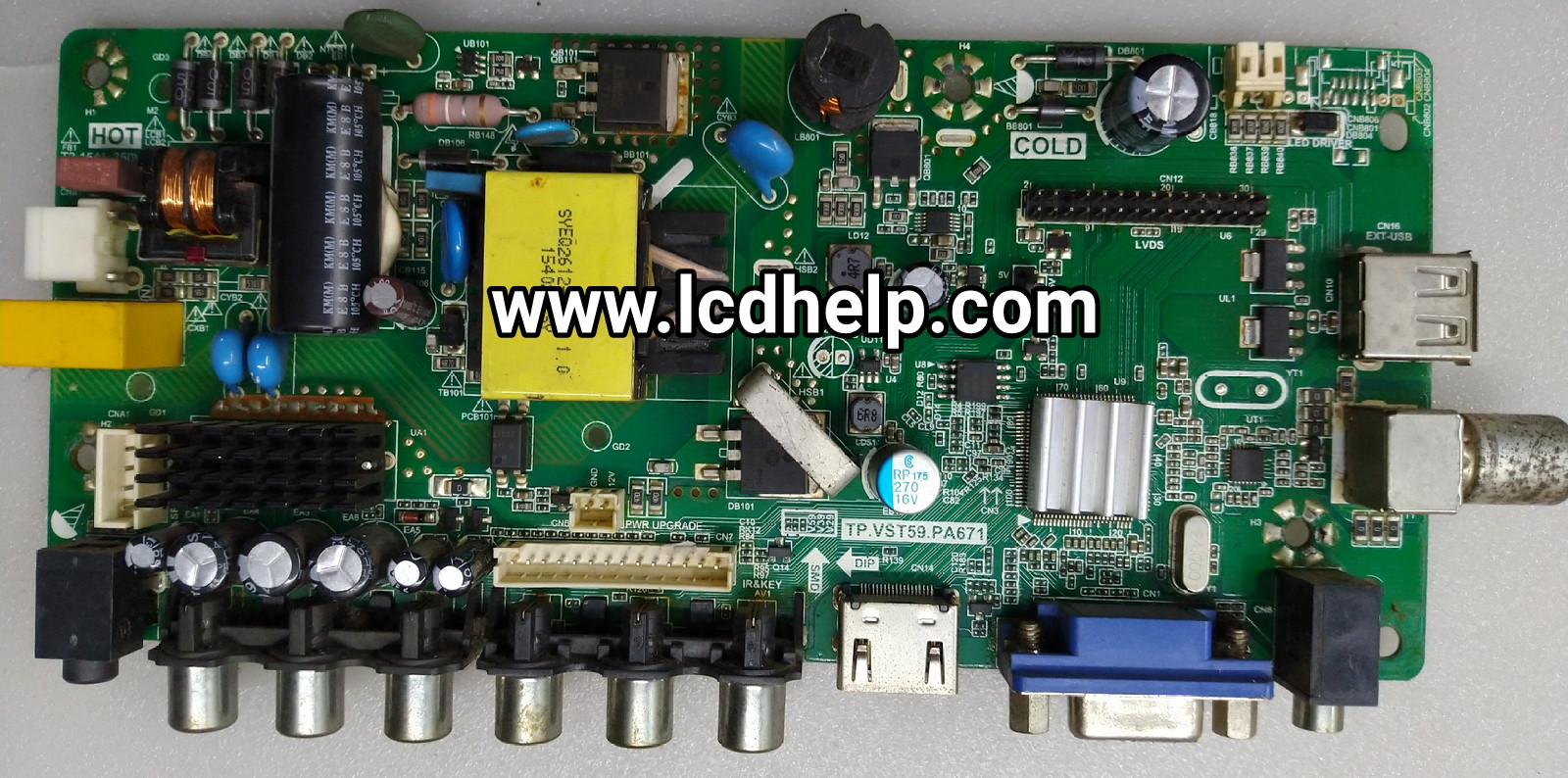 LED TV Board TP VST59 PA671 Voltage Data - LCD HELP