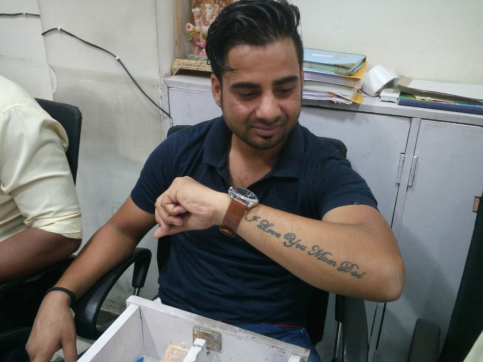 Ajay Kumar Ojha Tattoo For Mother Father I Love You Mom Dad