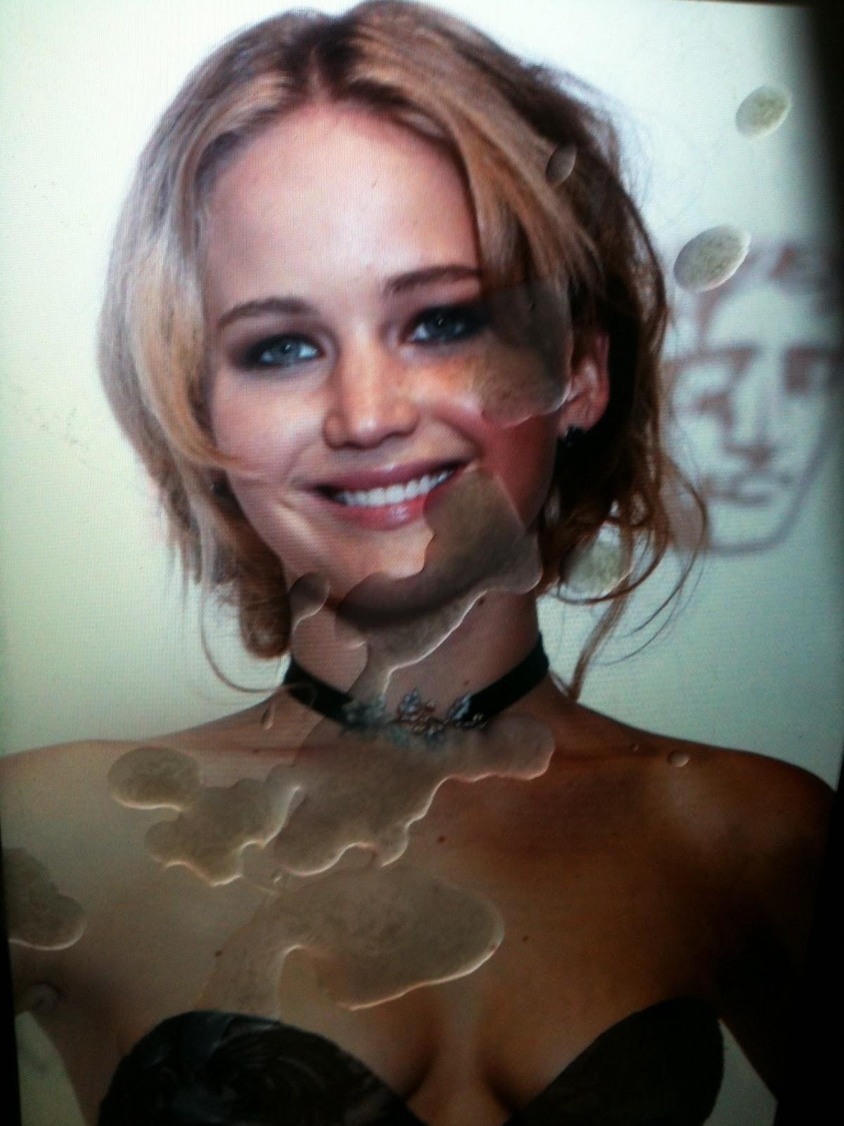 Jennifer lawrence covered in cum