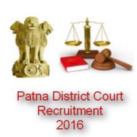 Patna District Court Clerk, Typist & Steno Recruitment 2016