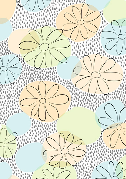 Rainy flowers pattern, Muster