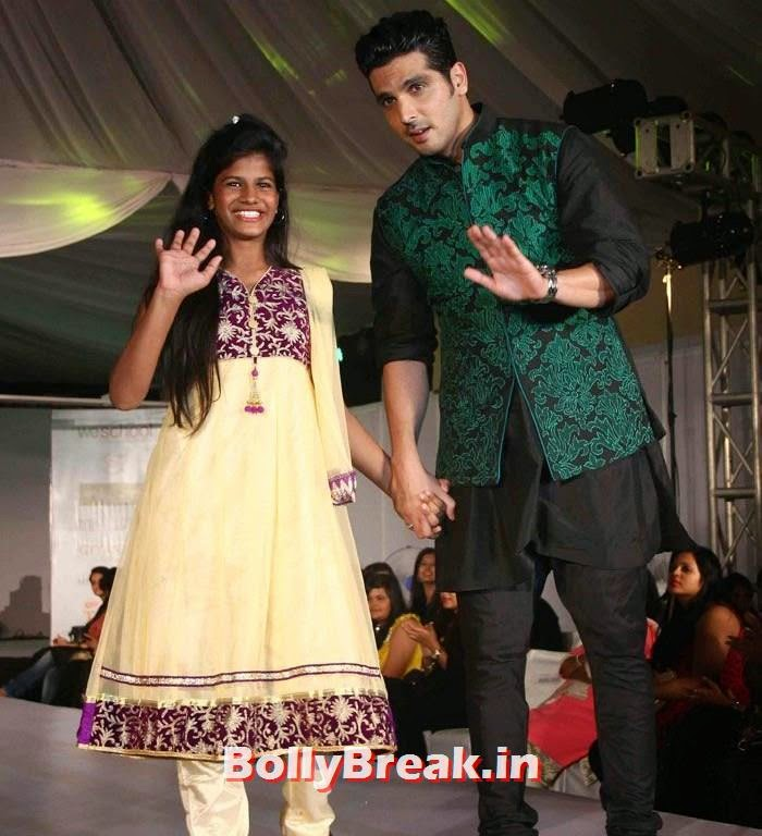 Zayed Khan, Ex Bigg Boss Contestants at Welingkar's Tribute Fashion Show 2014