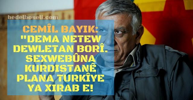 Cemil Bayık KCK PKK Netewe netew dewlt Kurdistan Referandum Serxwebûn