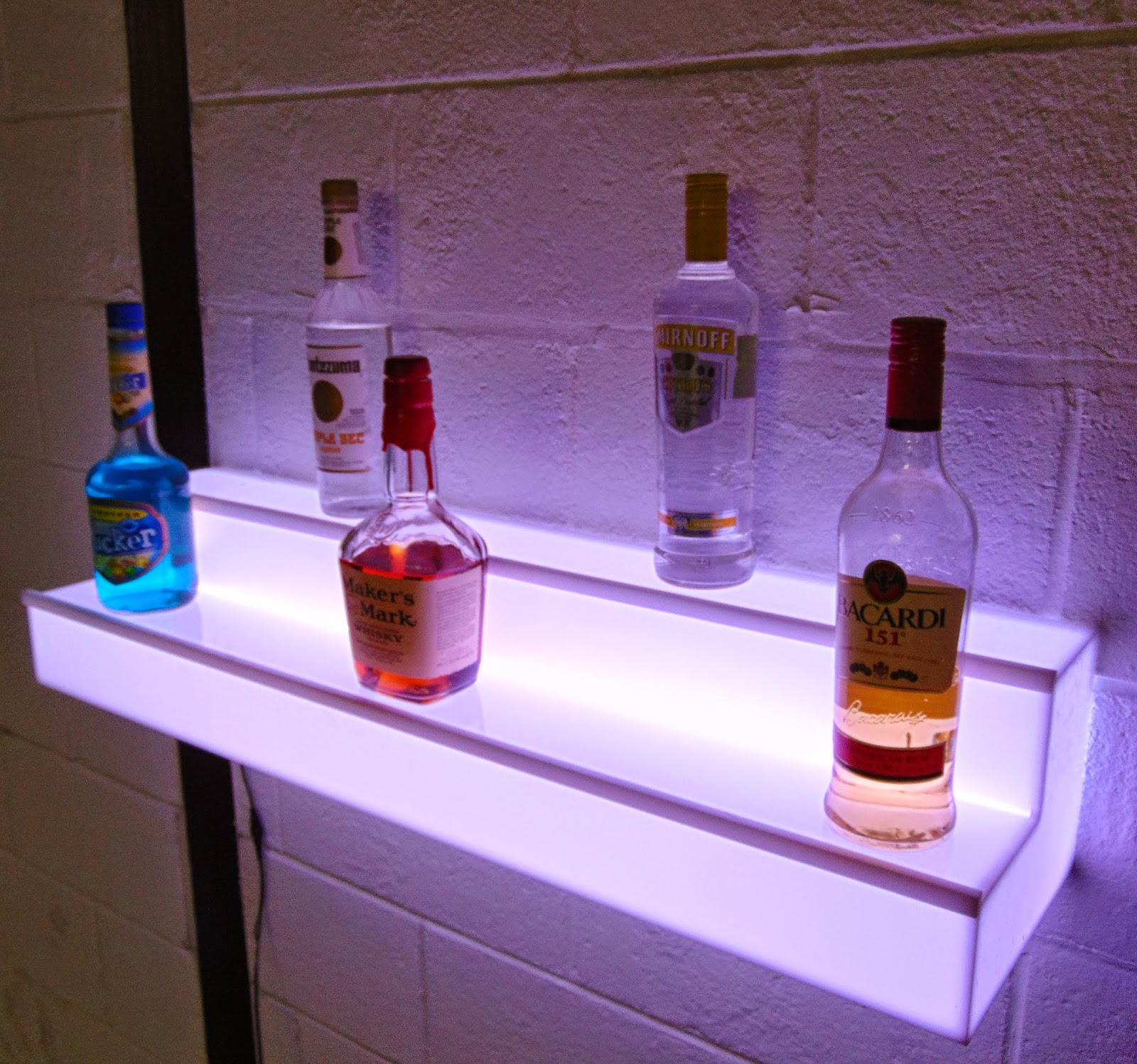 Barchefs Light Up Floating Wall Shelves Add Ambience To
