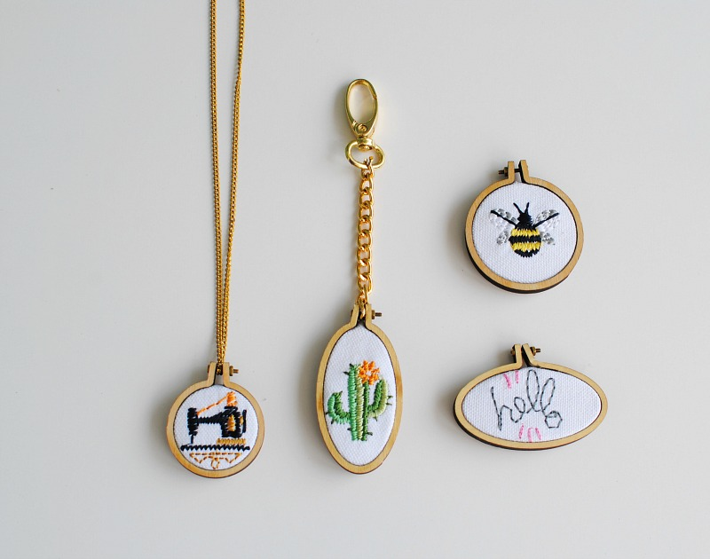 DIY: Mini Embroidery Hoops
