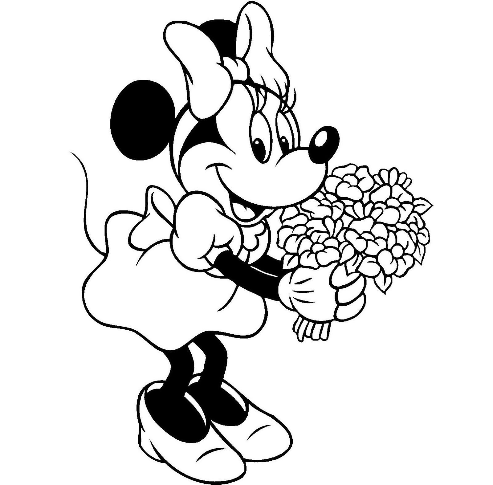 Desenhos para colorir e imprimir desenhos da minnie para for Disegno vaso da colorare