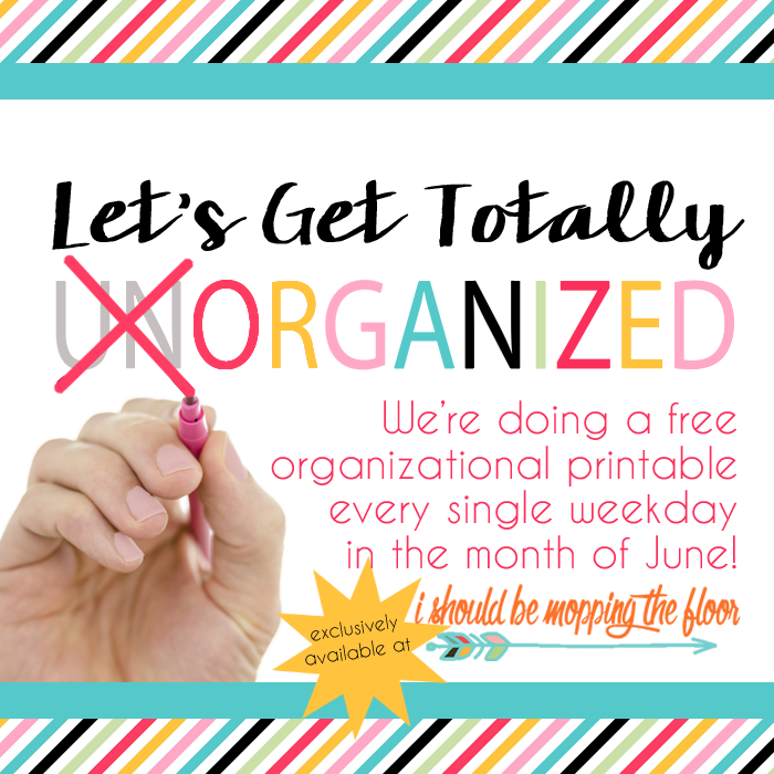 An Entire Month of Organizational Printables | 30+ instant downloads for organizing your life | Perfect for home binders