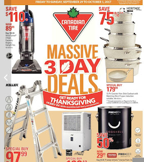 Canadian Tire Flyer Massive 3 Day Deals - Get Ready for Thanksgiving valid September 29 - October 11, 2017