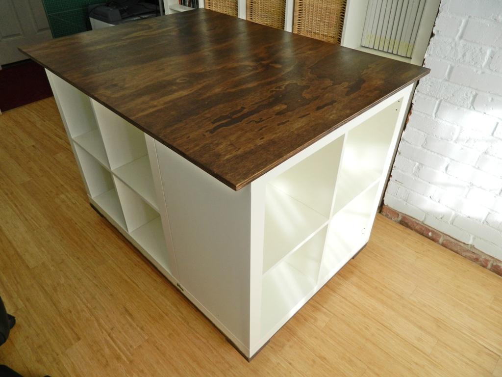 Kitchen island craft table - Ikea Hack Expedit Cutting Table Kitchen Cutting Table