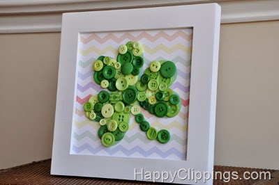 Shamrock button art picture