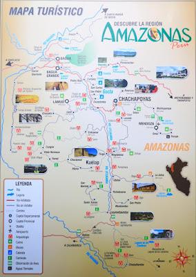 Mapa Chachapoyas, Mapa turístico, Chachapoyas, que ver en Chachapoyas