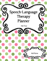 Ultimate Editable Speech Language Therapy Planner